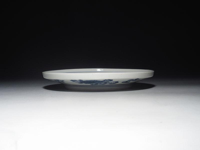 古伊万里 藍九谷 松鳥文 盤形 五寸皿【寛文】
